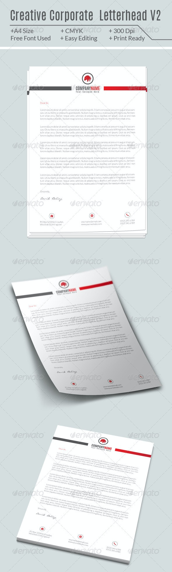 Creative Corporate Letterhead V2 - Miscellaneous Print Templates