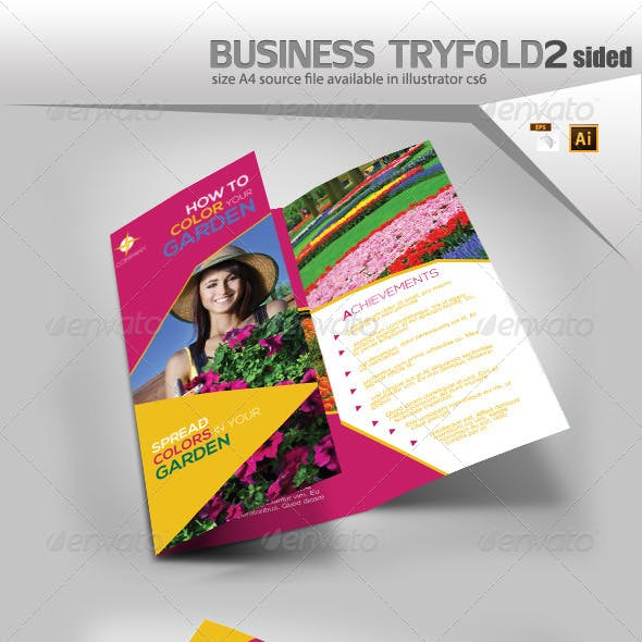 Flower Delivery Trifold Template