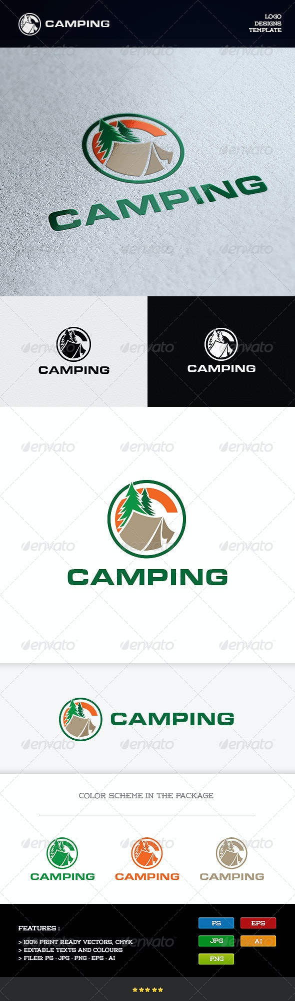 Camping - Objects Logo Templates