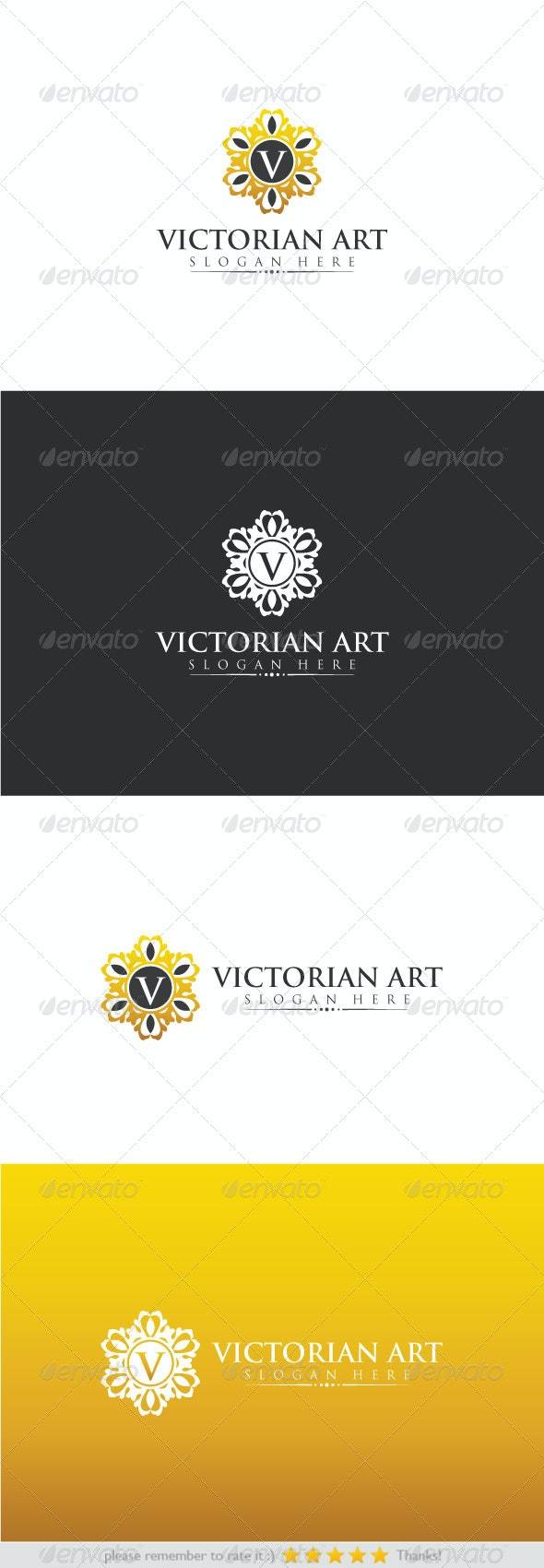 Victorian Art - Letters Logo Templates