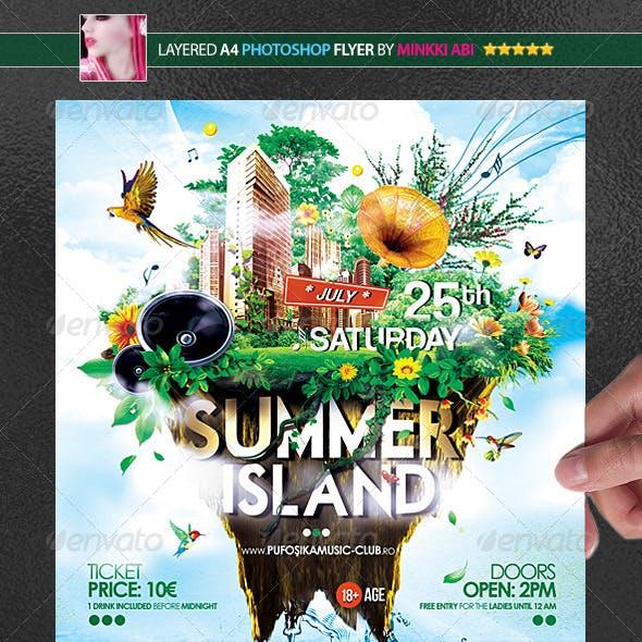 Summer Island Poster/Flyer