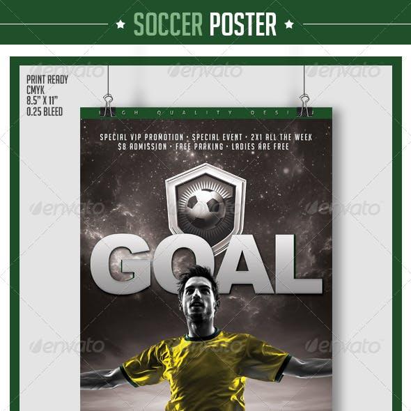 Soccer Poster Goal