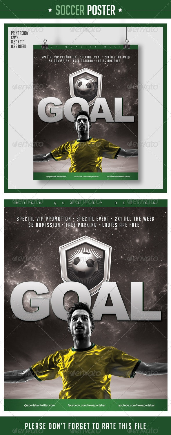 Soccer Poster Goal - Sports Events