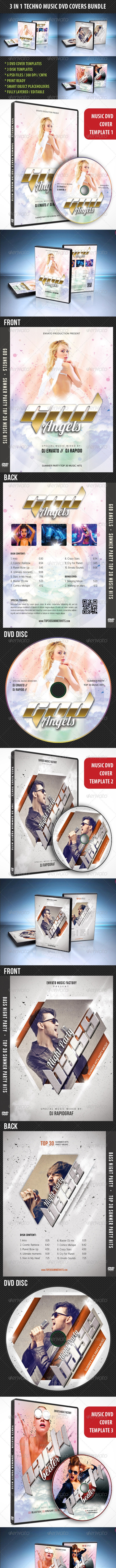 3 in 1 Music DVD Covers Bundle 03 - CD & DVD Artwork Print Templates