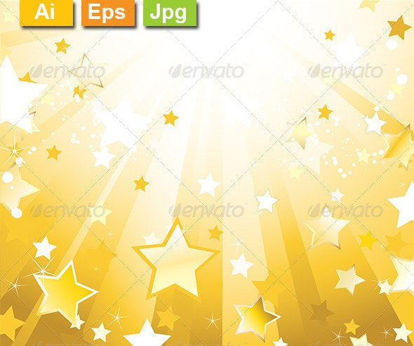 Radiant Background with Stars - Backgrounds Decorative