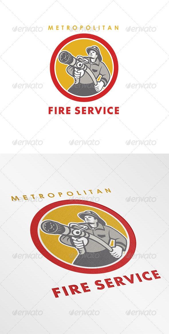 Metropolitan Fire Service Logo - Humans Logo Templates