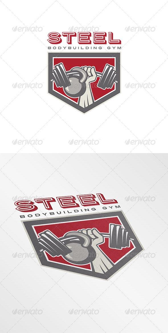 Steel Body Building Gym Logo - Objects Logo Templates