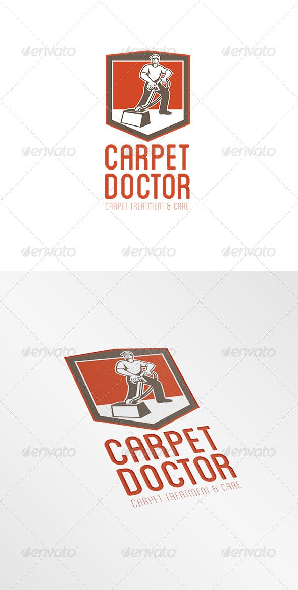 Carpet Doctor Treatment and Care Logo - Humans Logo Templates