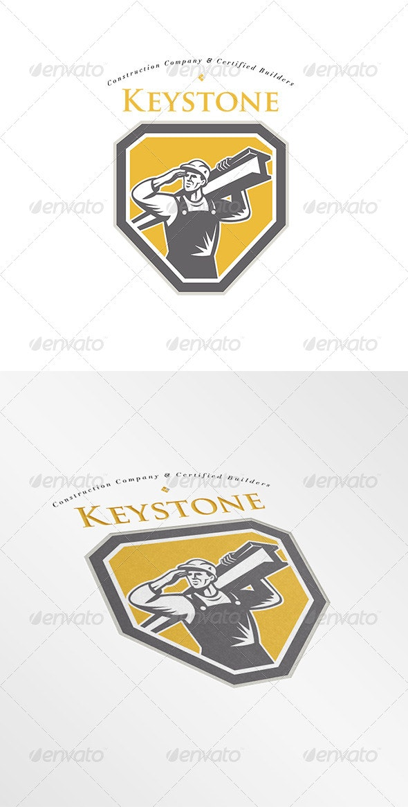 Keystone Construction Builders Company Logo - Humans Logo Templates