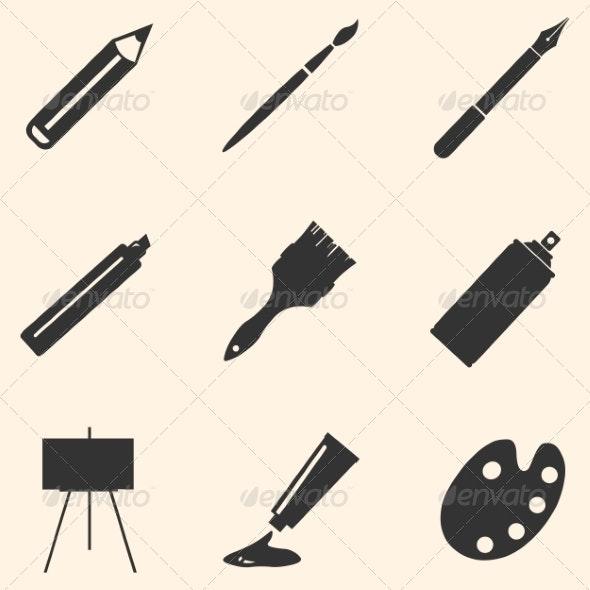 Set of Art Supplies - Miscellaneous Conceptual