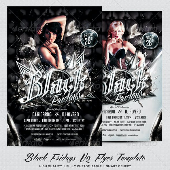 Black Fridays V2 Flyer Template