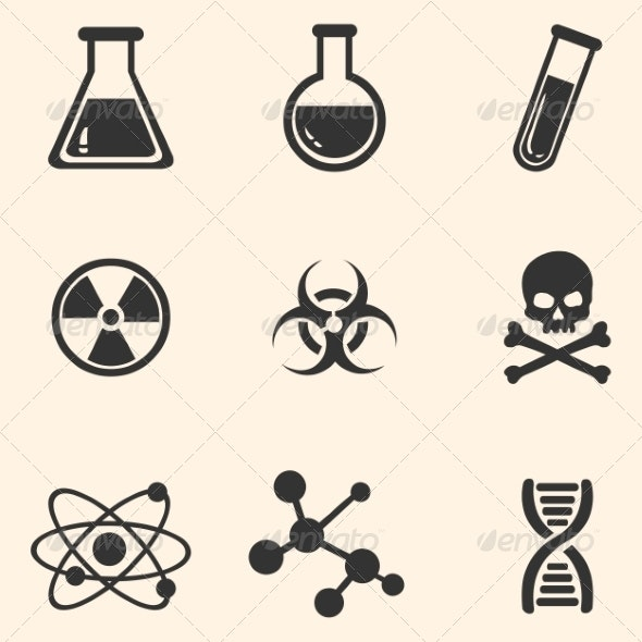 Set of Chemistry Icons - Miscellaneous Conceptual
