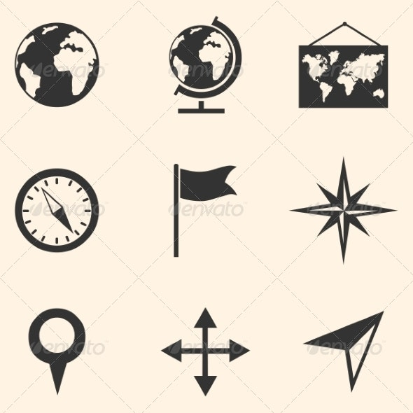 Set of Geography Icons - Miscellaneous Conceptual