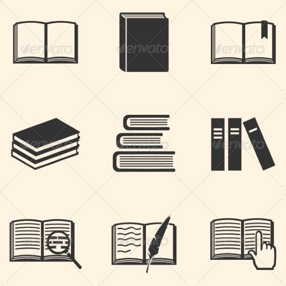 Set of Book Icons - Miscellaneous Vectors