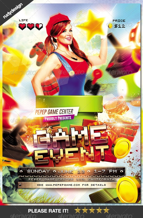 Video Games Event Flyer Design - Events Flyers