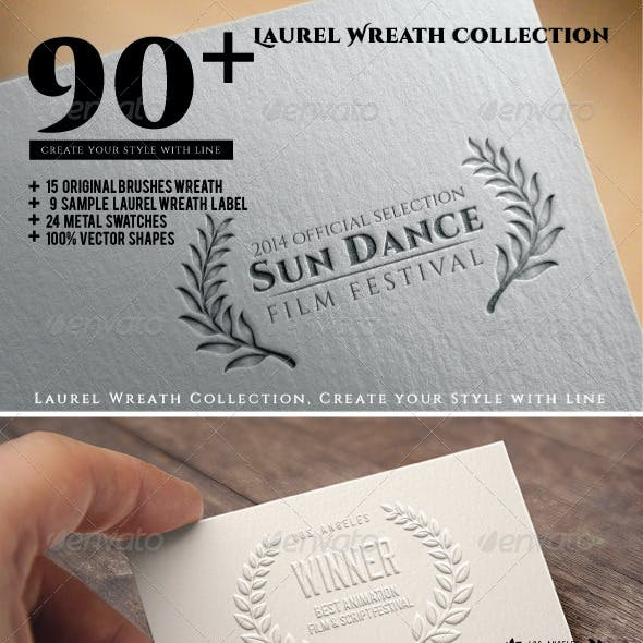 90+ Laurel Wreath Collection