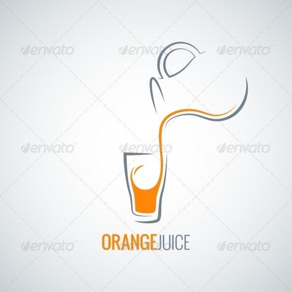 Orange Juice Glass Bottle Background - Food Objects