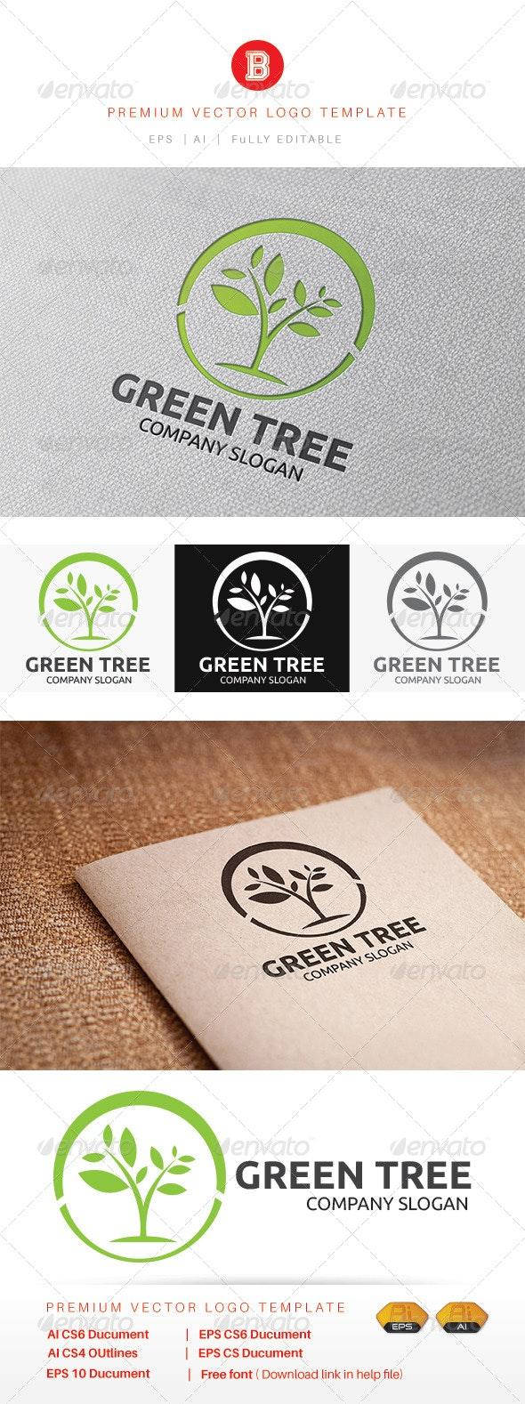 Green Tree - Nature Logo Templates