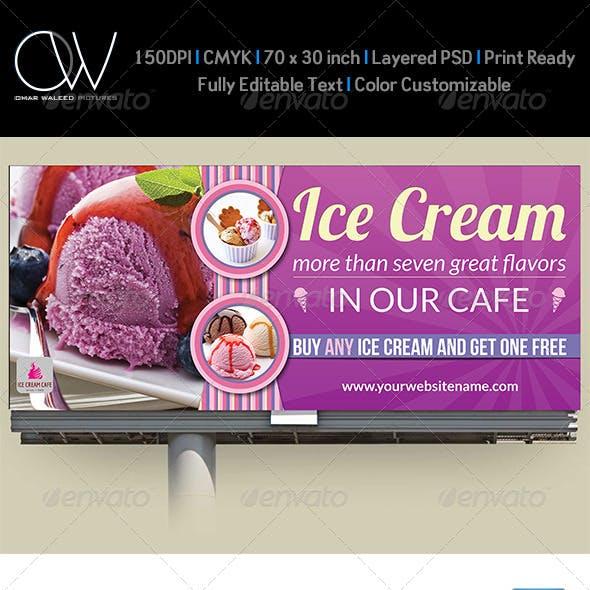 Ice Cream Billboard Template Vol.2