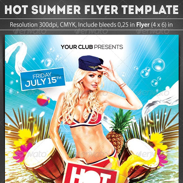 Hot Summer Party Flyer