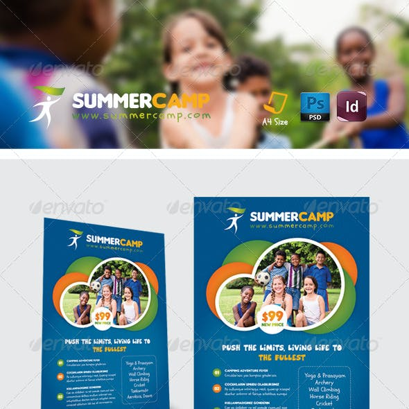 Summer Camp Flyer Templates