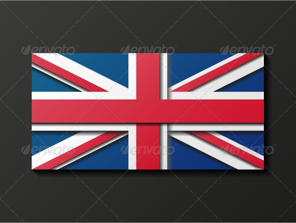 Modern Style Great Britain Flag - Decorative Symbols Decorative