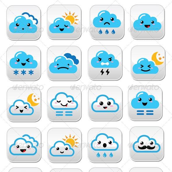 Cloud Kawaii, Manga Buttons