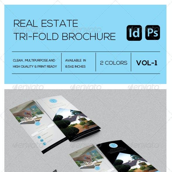Real Estate Business Tri-Fold Brochure Vol-1