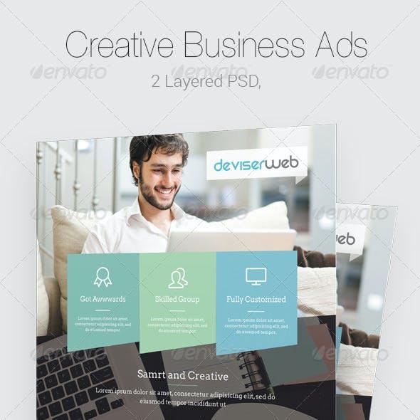Modern Business Magazine Ads Template