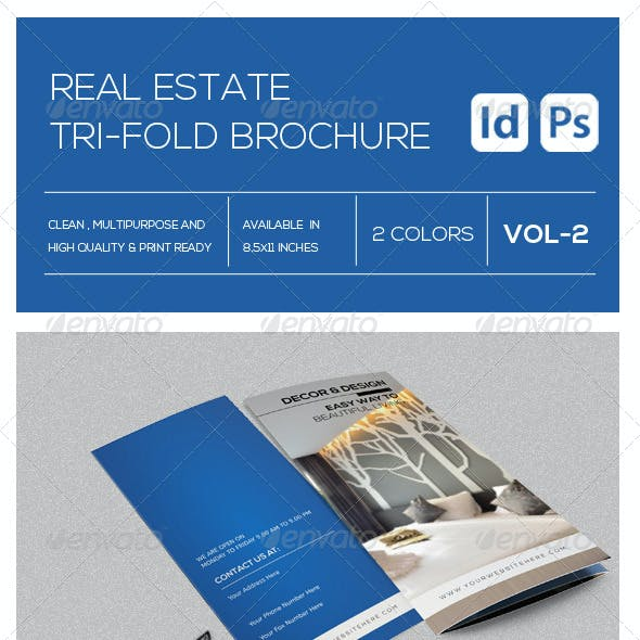 Real Estate Business Tri-Fold  Brochure Vol-2