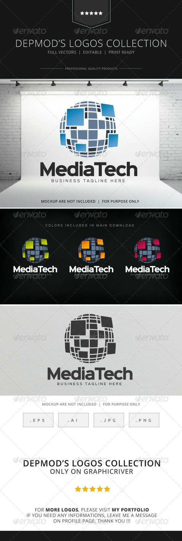 Media Tech Logo - Symbols Logo Templates