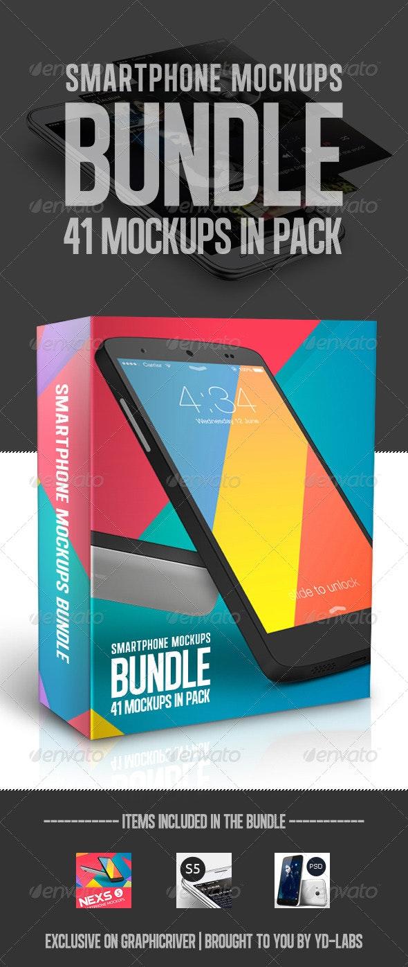 Smartphone Mockups Bundle - Mobile Displays