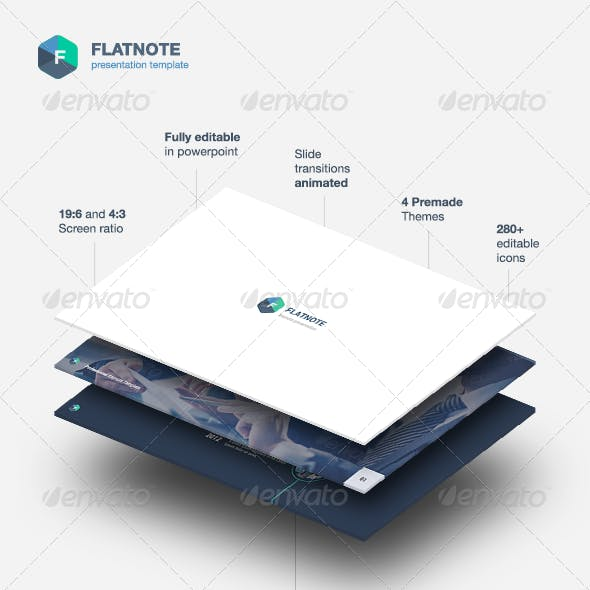 Flatnote - Powerpoint Template