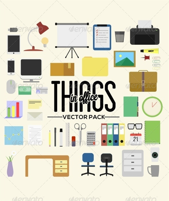 Things in Office - Man-made Objects Objects