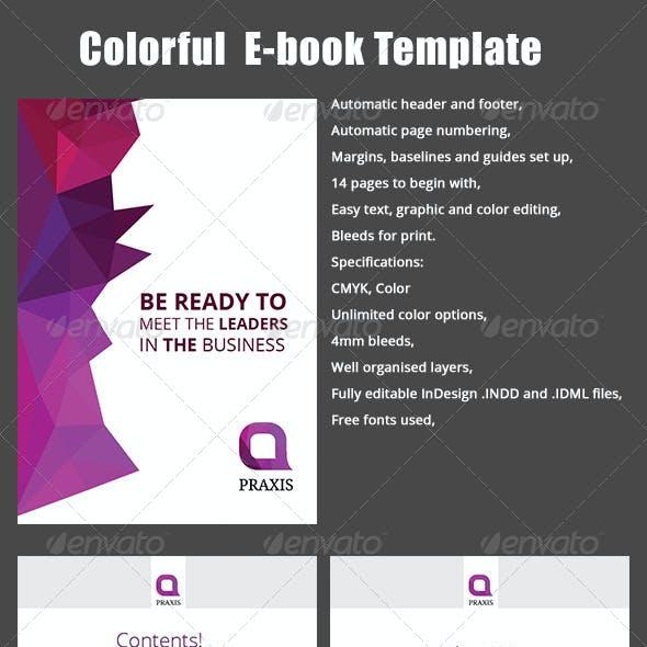Colorful E-book Template