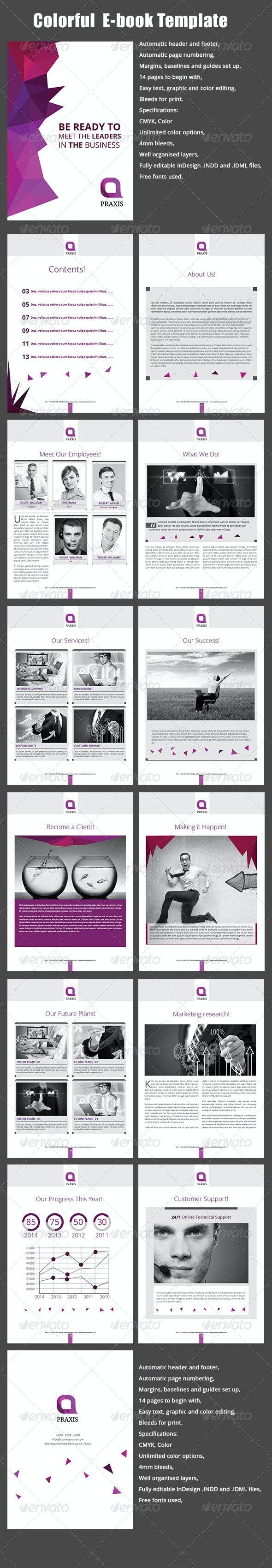 Colorful E-book Template - ePublishing