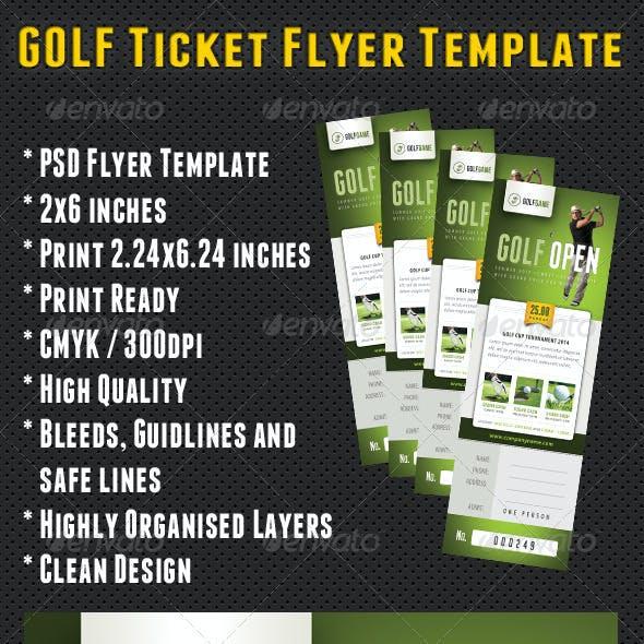 Golf Ticket Template 04