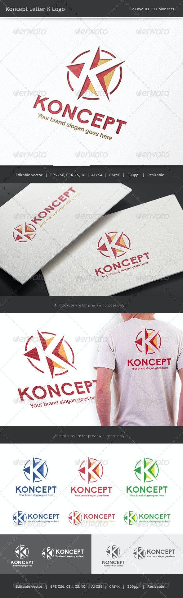 Koncept Letter K Logo - Letters Logo Templates