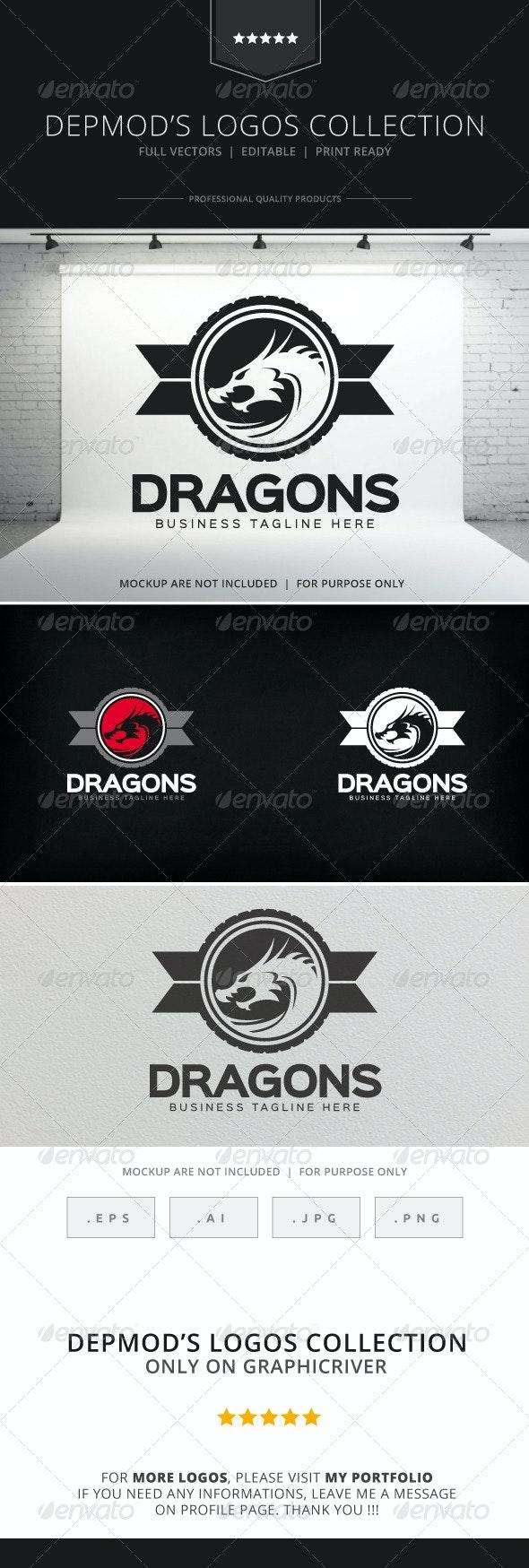 Dragons Logo - Crests Logo Templates