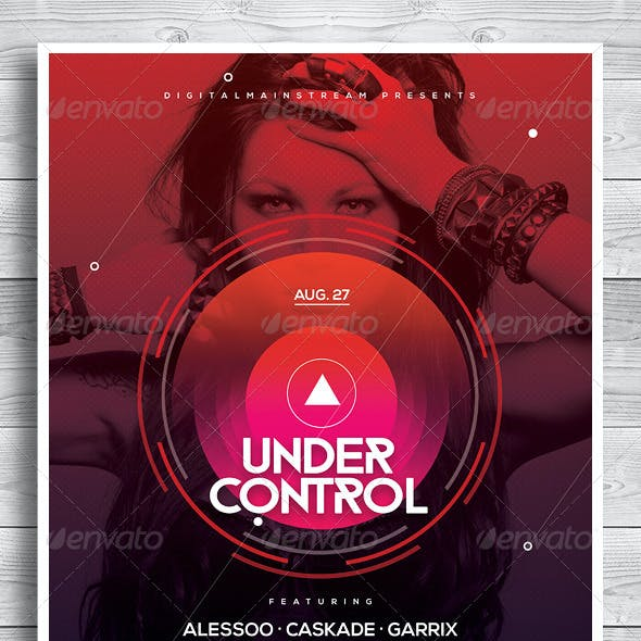 Under Control Electro Music Poster