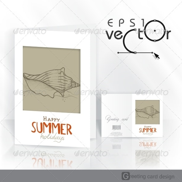 Greeting Card Design, Template - Travel Conceptual