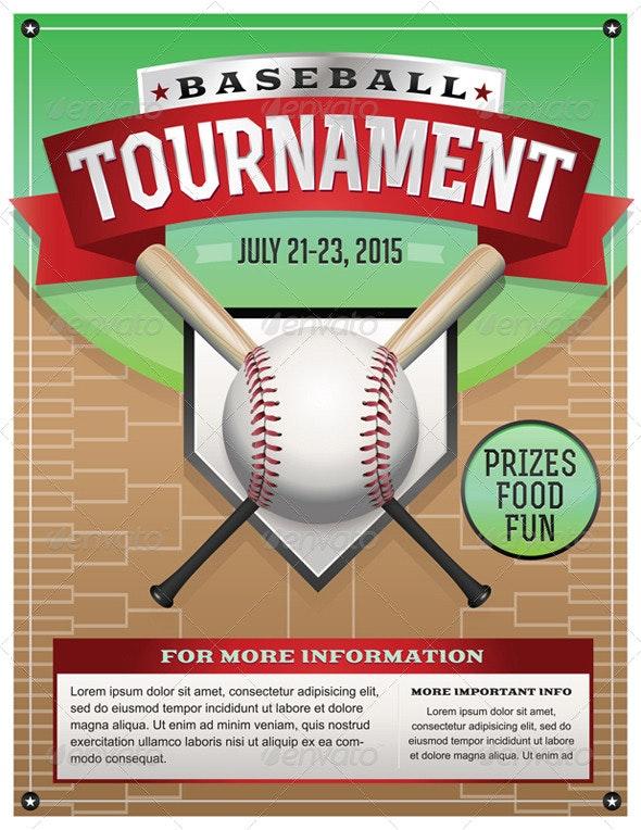 Vector Baseball Tournament Illustration - Sports/Activity Conceptual
