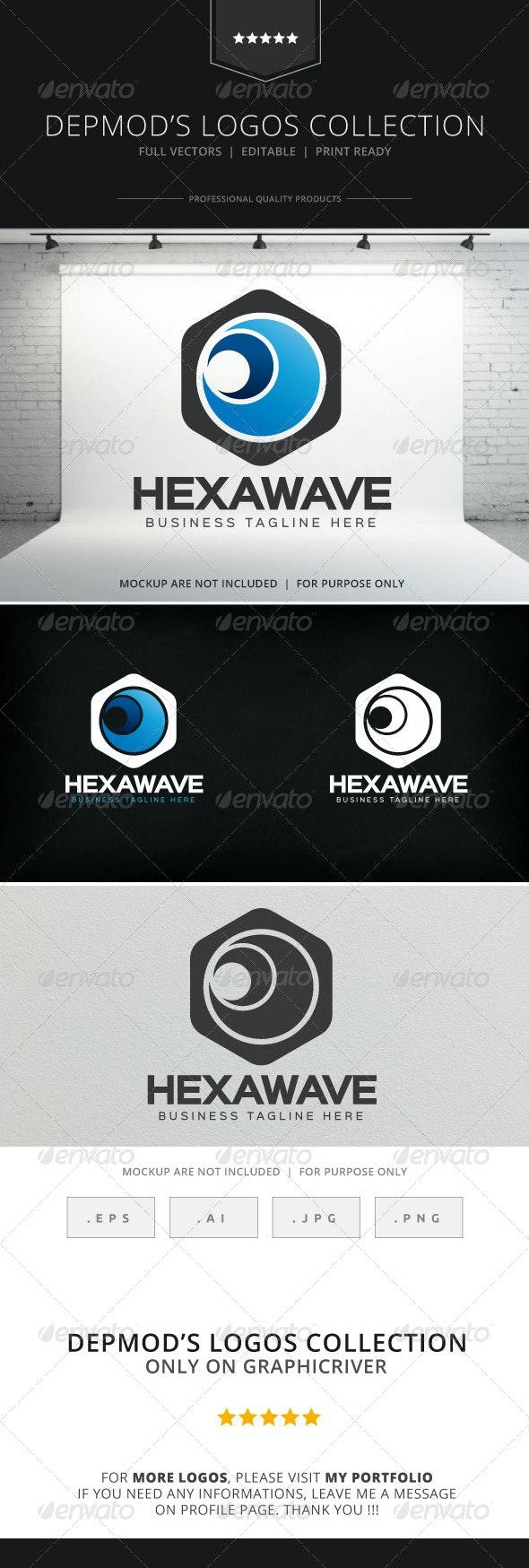 Hexa Wave Logo - Symbols Logo Templates