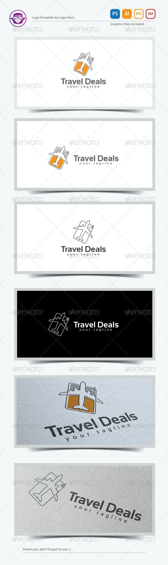 Travel Deal Logo Template - Objects Logo Templates