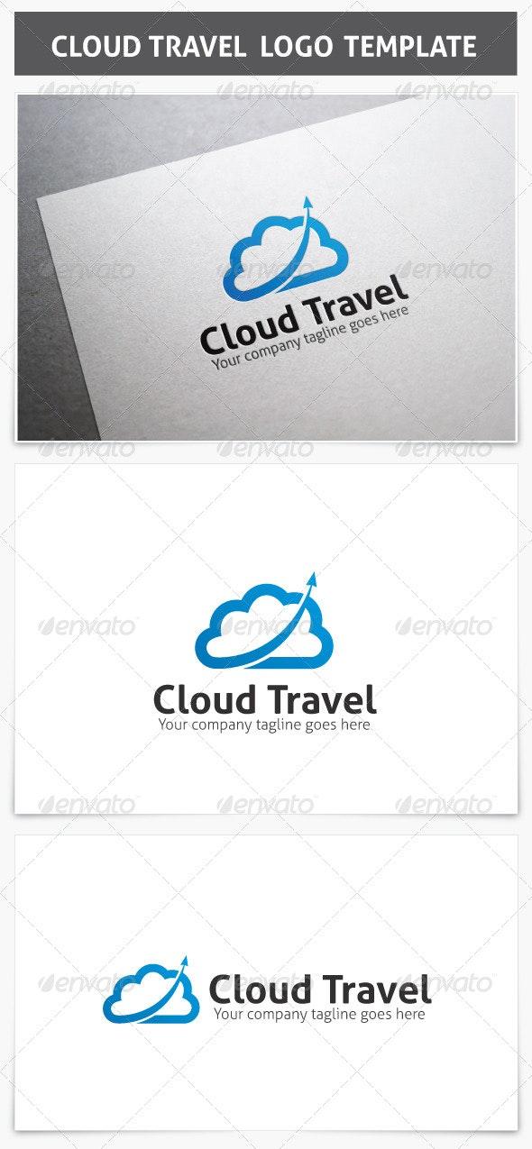 Cloud Travel Logo - Vector Abstract