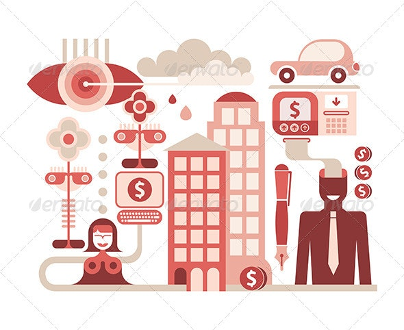 Economy Illustration - Concepts Business