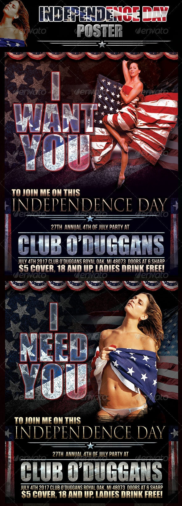 Independence Day Poster - Holidays Events
