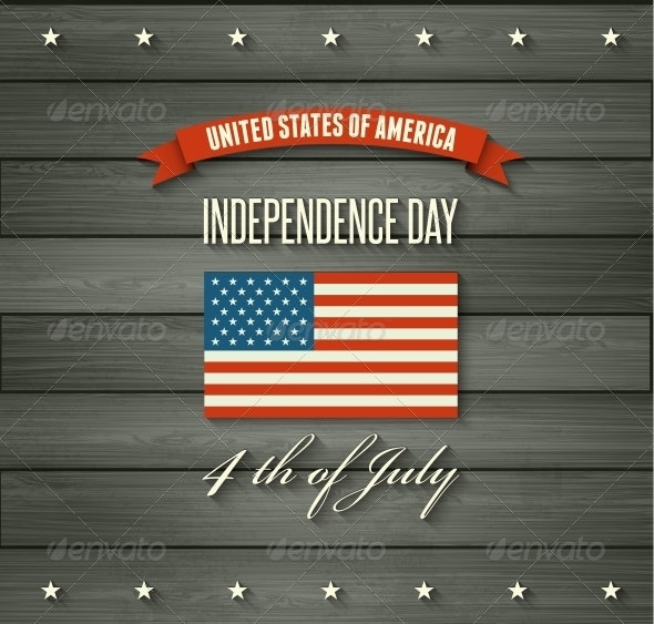 American Independence Day Flat Design - Miscellaneous Vectors