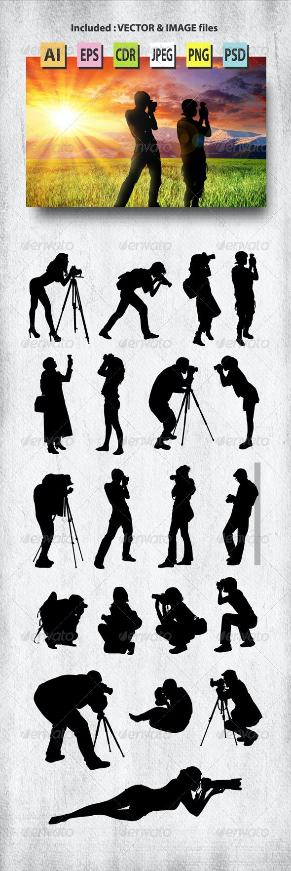 Photographer Silhouettes - People Characters
