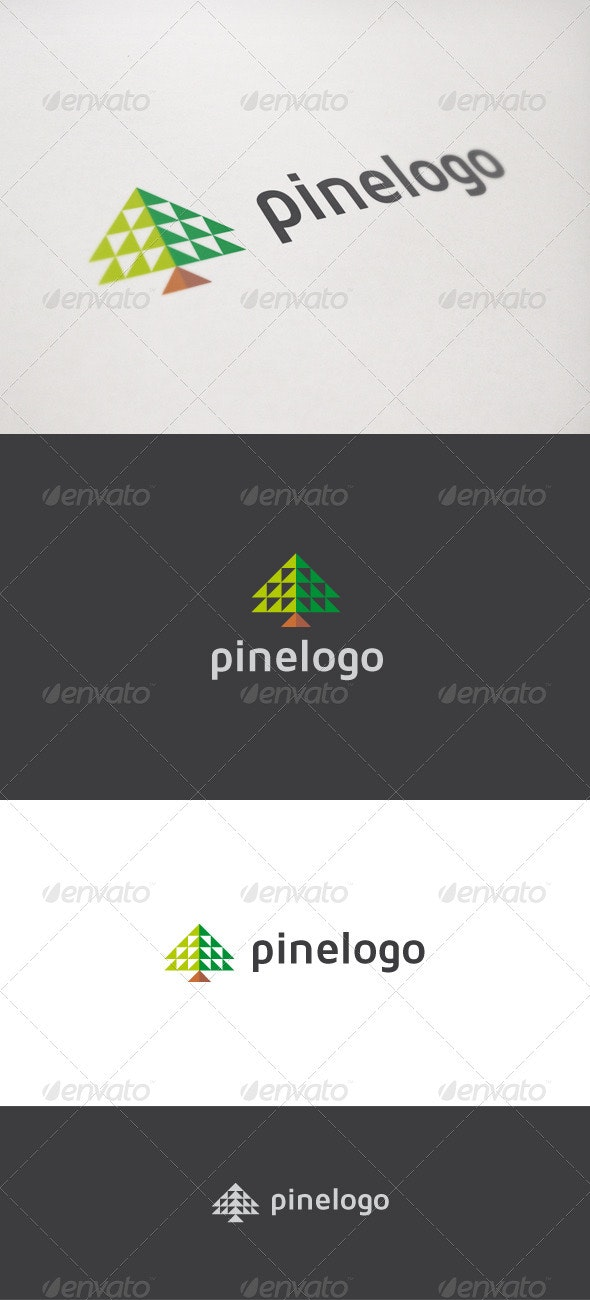 Pine Logo - Nature Logo Templates